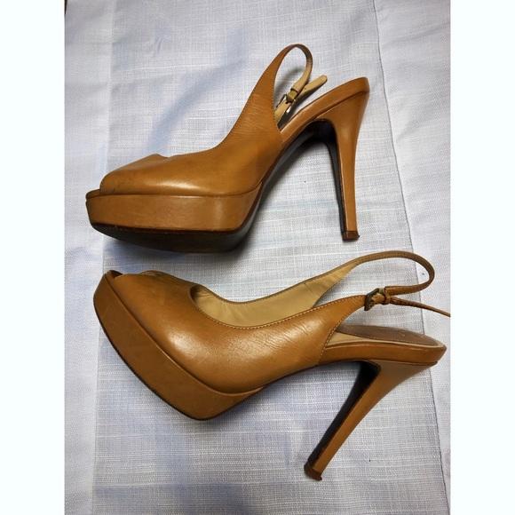 Cole Haan Shoes - Cole Haan Peep Toe Stiletto Pumps